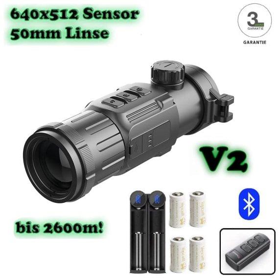 InfiRay CH50 V2 Wärmebild-Vorsatzgerät + Fernbedienung + 4 Akkus
