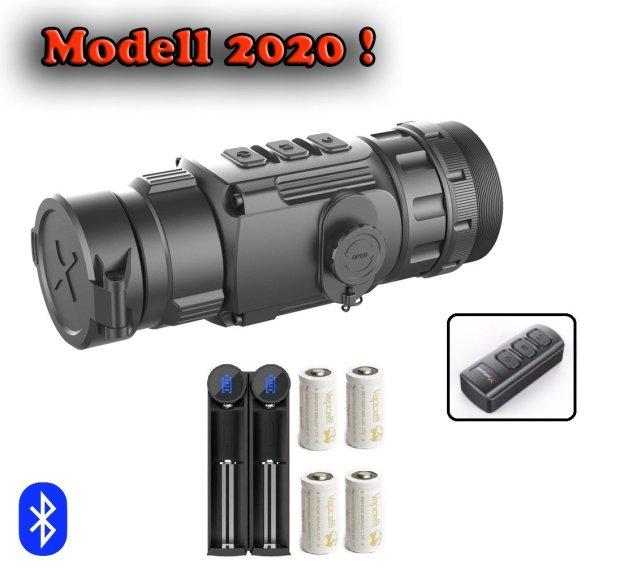 CL 42 Wärmebild-Vorsatzgerät von Xinfrared, Modell  2020 + Fernbedienung + 4 Akkus + Ladegerät