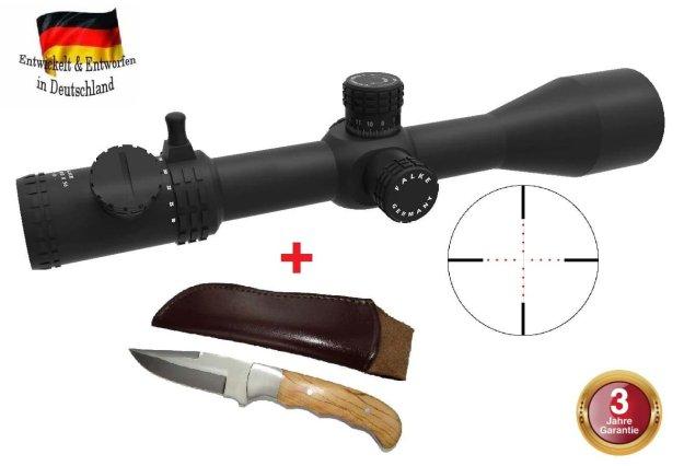Falke Zielfernrohr 5-30x56 Pro, Leuchtabsehen, 34 mm Mittelrohr Ø