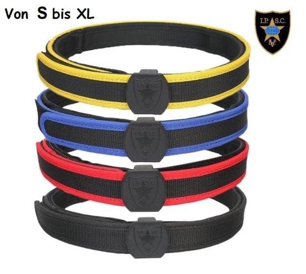 IPSC Klett-Gürtel / Koppel in 4 Farben und 4 Größen S-M-L-XL