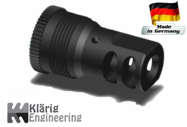 Mündungsbremse, mit Außengewinde für ASE UTRA Schalldämpfer, 5/8x24
