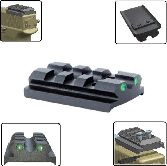 Picatinny Magazinboden-Adapter für Glock 17 Picatinny-Montage Picatinny-Schiene
