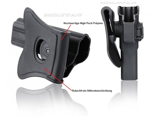 Holster für Smith & Wesson M&P 9mm, Girsan MC28 SA mit Paddle von Cytac