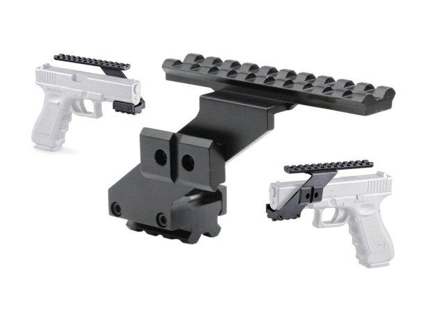 Futteral pistolentasche für 2 kurzwaffen in olive » abschließbar