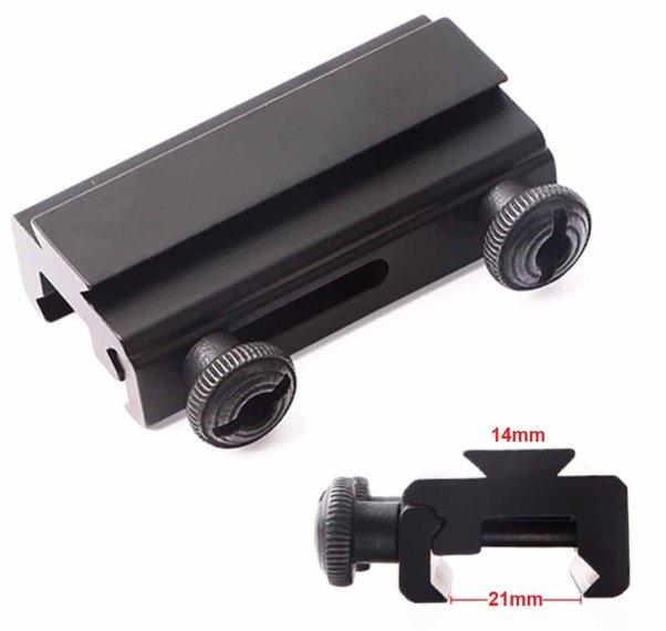 Adapter Prismenschiene Weaver Picatinny Zielfernrohr Montage 11mm zu 20mm Satz