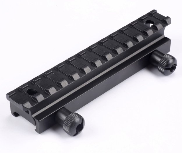 Prismenschiene Montage Erhöhung Zielfernrohr Slot Picatinny Adapter Jagd Weaver