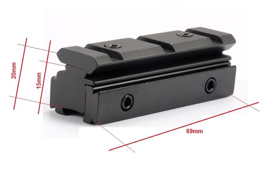 Prismenschiene Erhöhung Picatinny Schiene Weaverschiene Montage Adapter