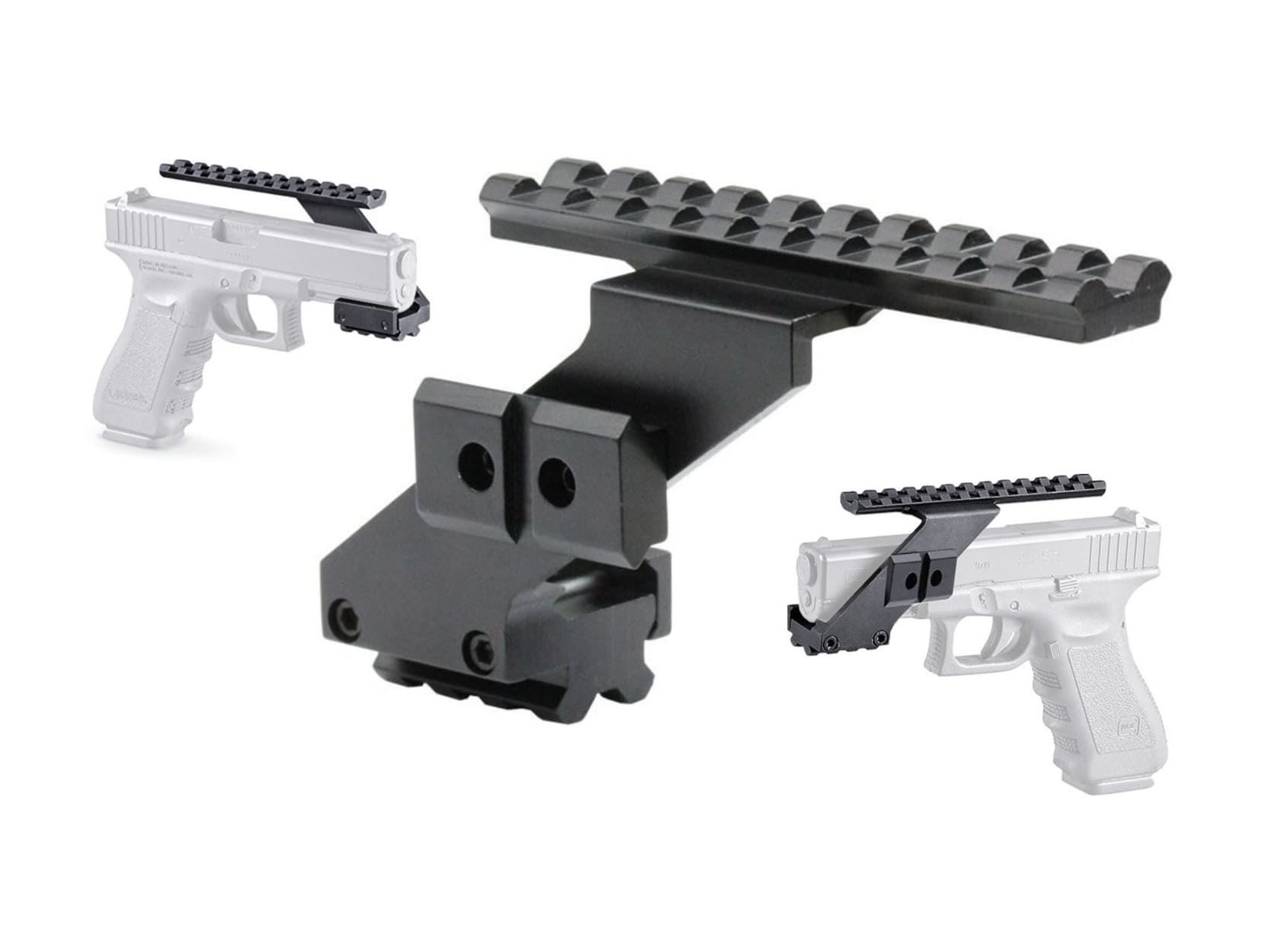 Kurzwaffen picatinny schiene montage passt fast für alle pistolen