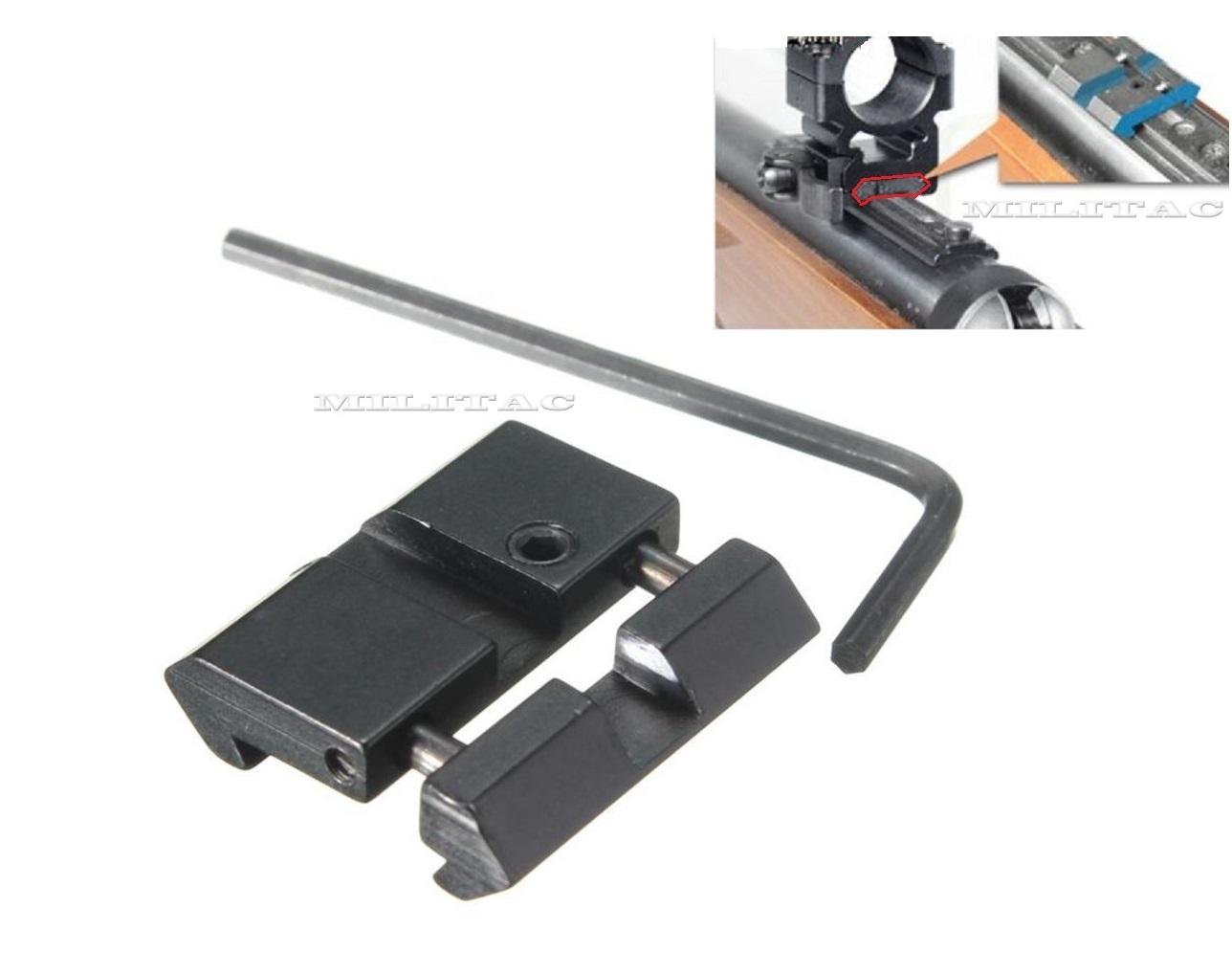 2 Set Schienen Adapter Picatinny Weaver auf Prismenschiene 11mm zu 20//21mm