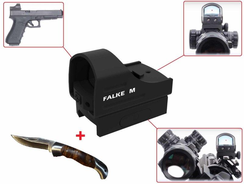 Falke m mini reflexvisier für lang und kurzwaffen red dot