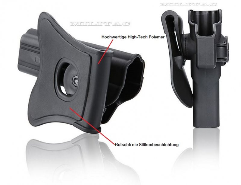 Holster für Colt 1911 4 ZOLL mit Paddle 360° Rotation