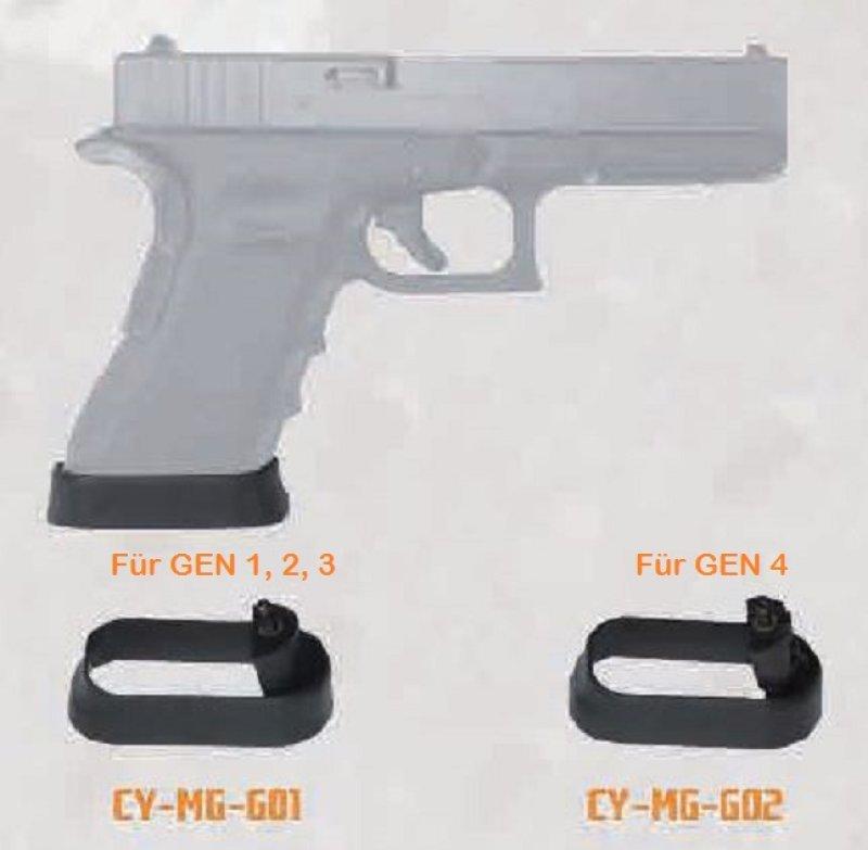Cytac Magwell Magazinrichter Jet Funnel Tuning für Glock Modelle Gen ...